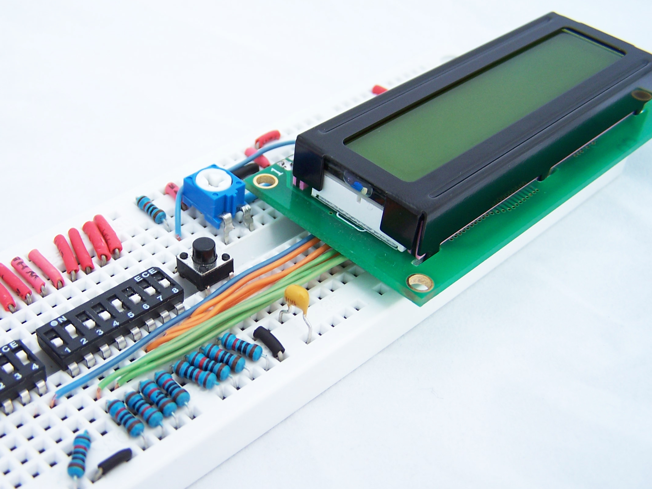 how to drive a character lcd displays using dip switches [ 2100 x 1575 Pixel ]