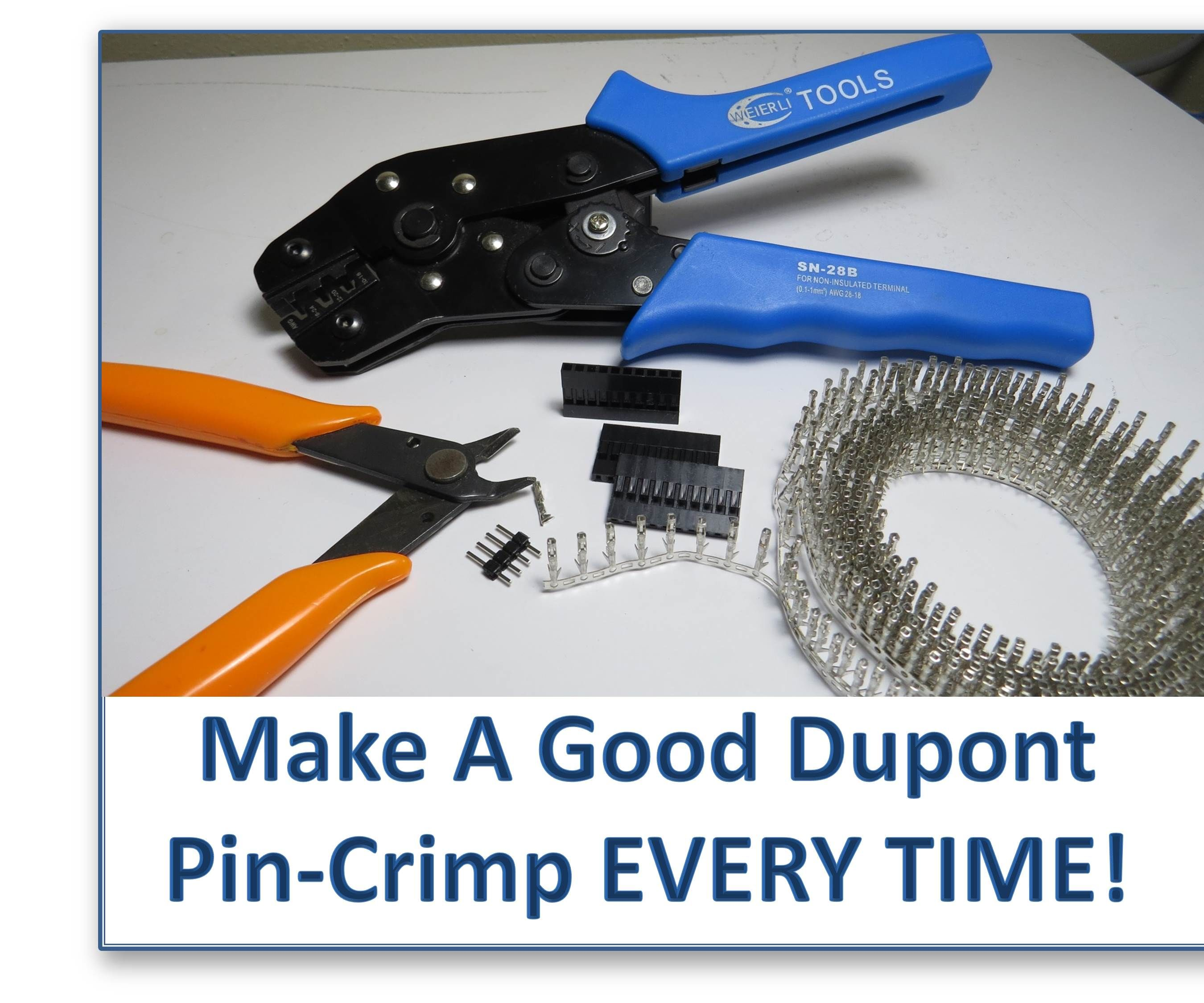 hight resolution of make a good dupont pin crimp every time
