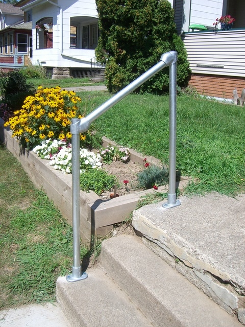 How To Build A Simple Handrail 7 Steps With Pictures   Home Depot Outdoor Handrails   Aluminum Railing   Pressure Treated   Wood   Treated Lumber   Fiberon