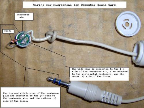 small resolution of mini microphone wiring phone jack
