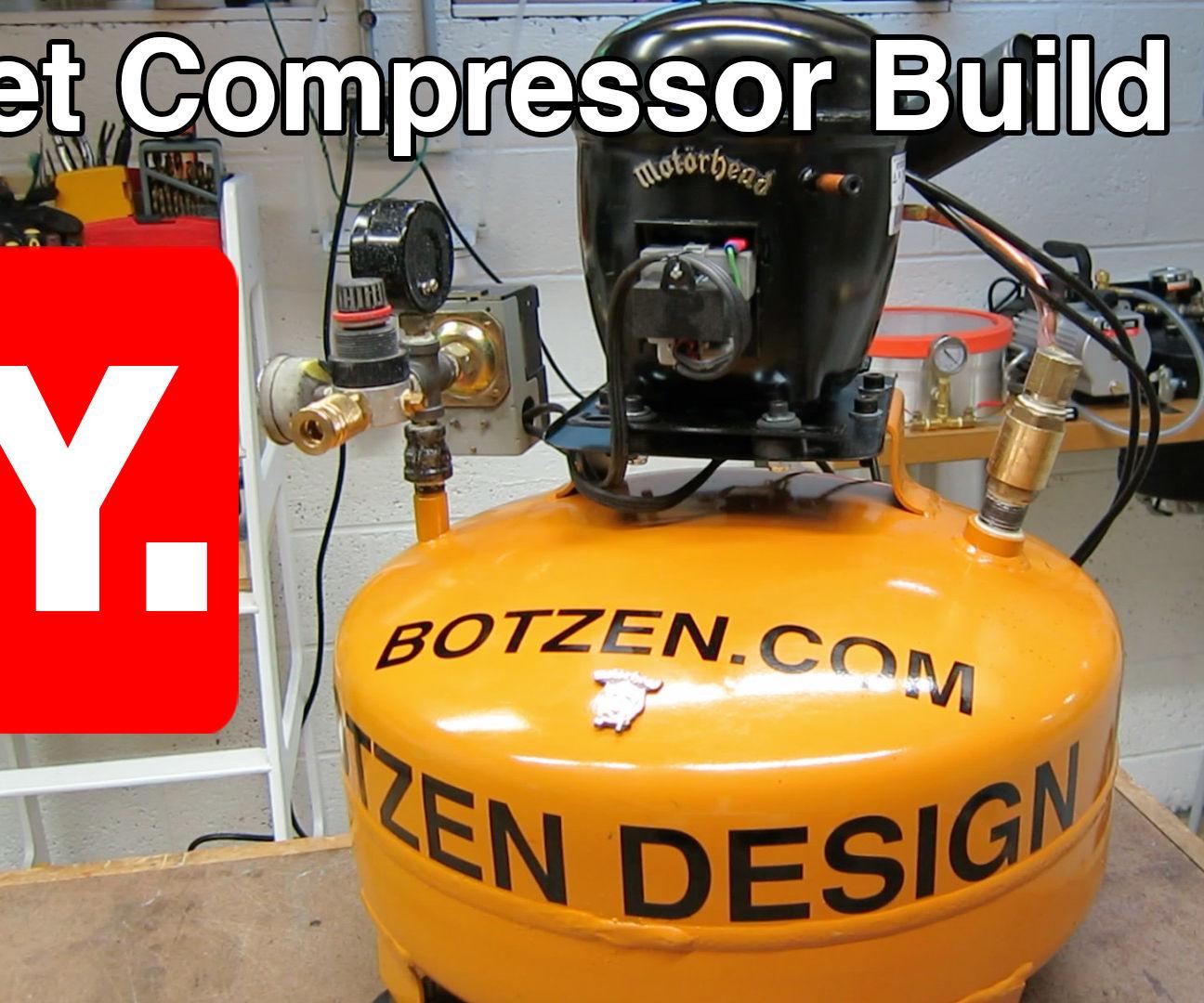 small resolution of d i y ultra quiet shop compressor from a refrigerator motor compressor