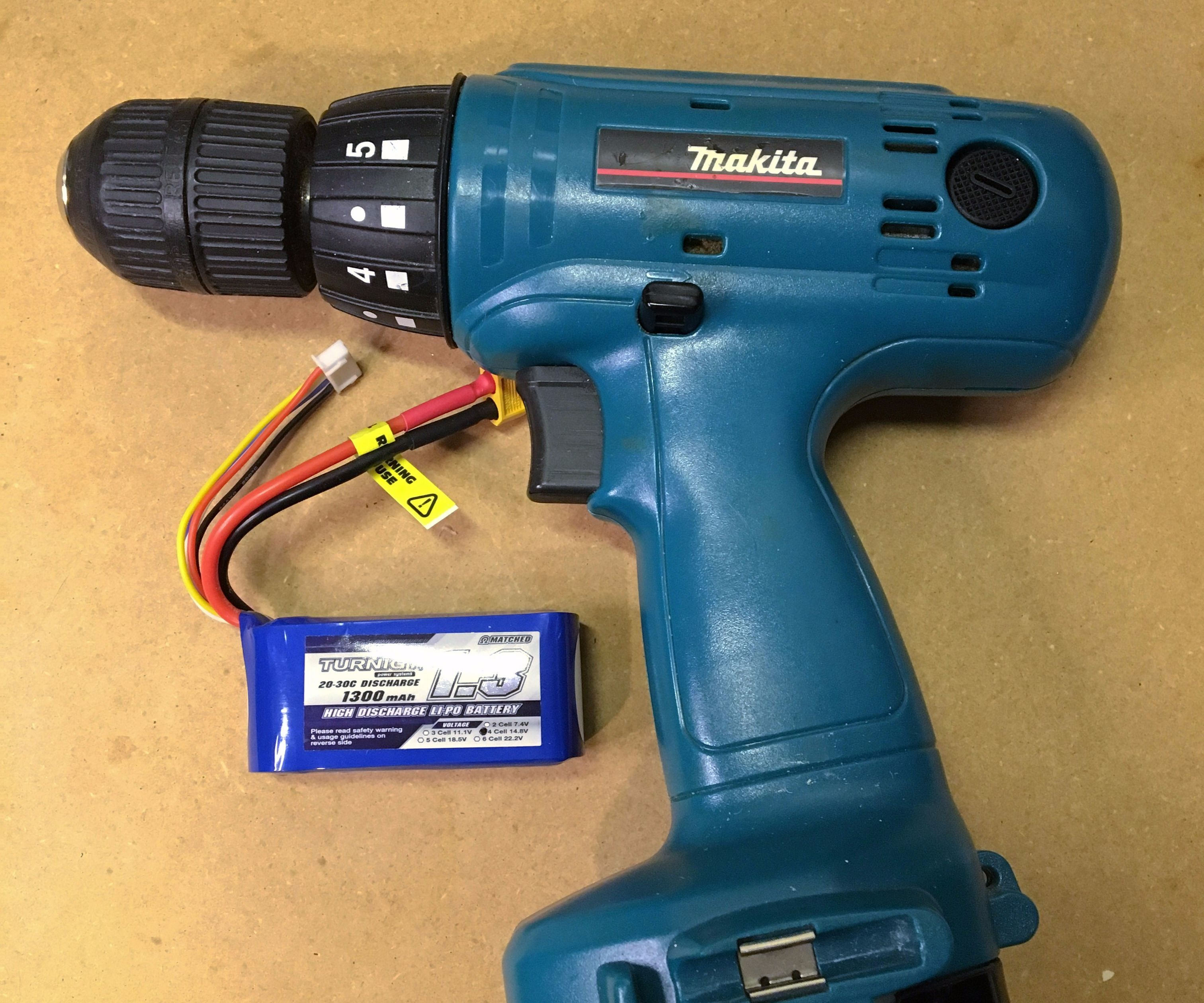 hight resolution of convert old cordless tools to lithium power 5 steps with pictures battery wiring diagram in addition hitachi 18 volt battery charger