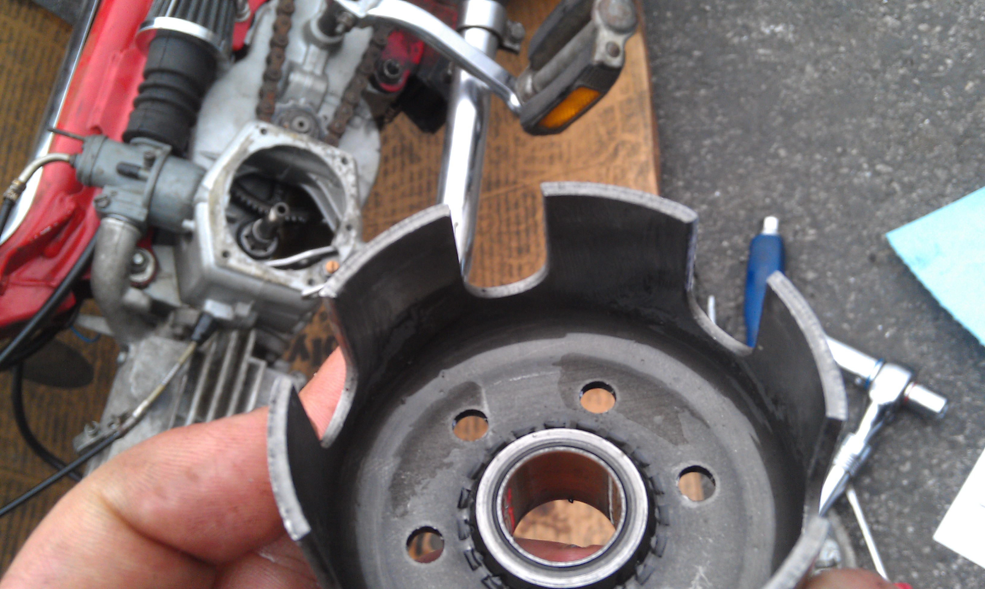 hight resolution of sachs moped clutch repair and re installation