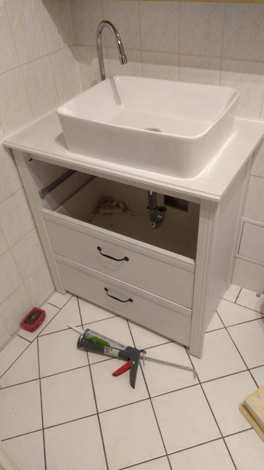 Make A Bathroom Vanity Out Of An Old Dresser 11 Steps Instructables