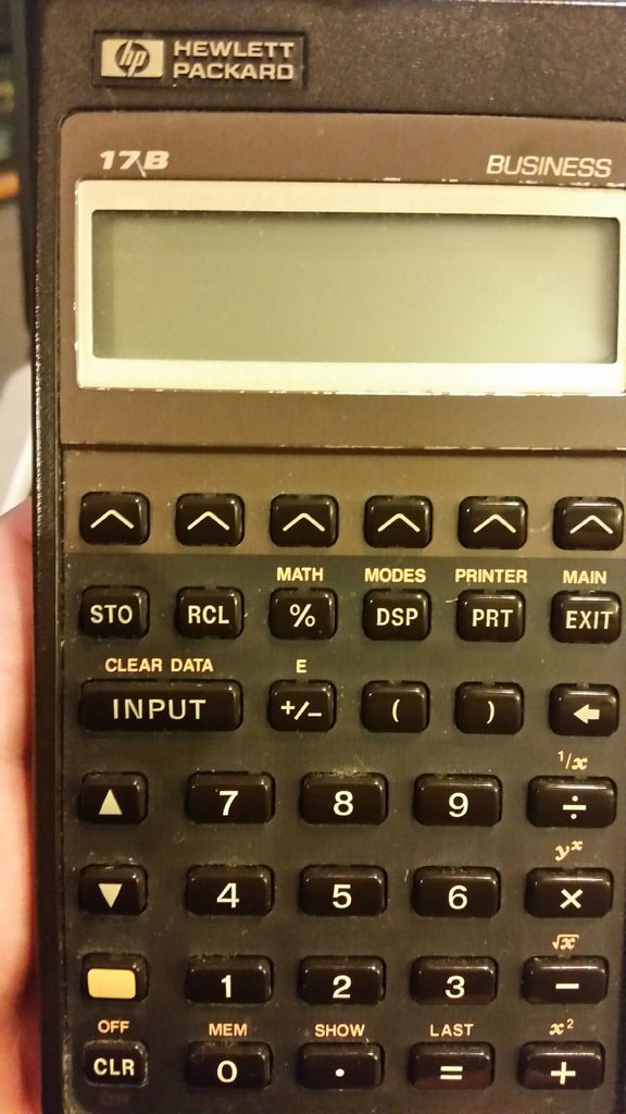 hp 17b series calculator