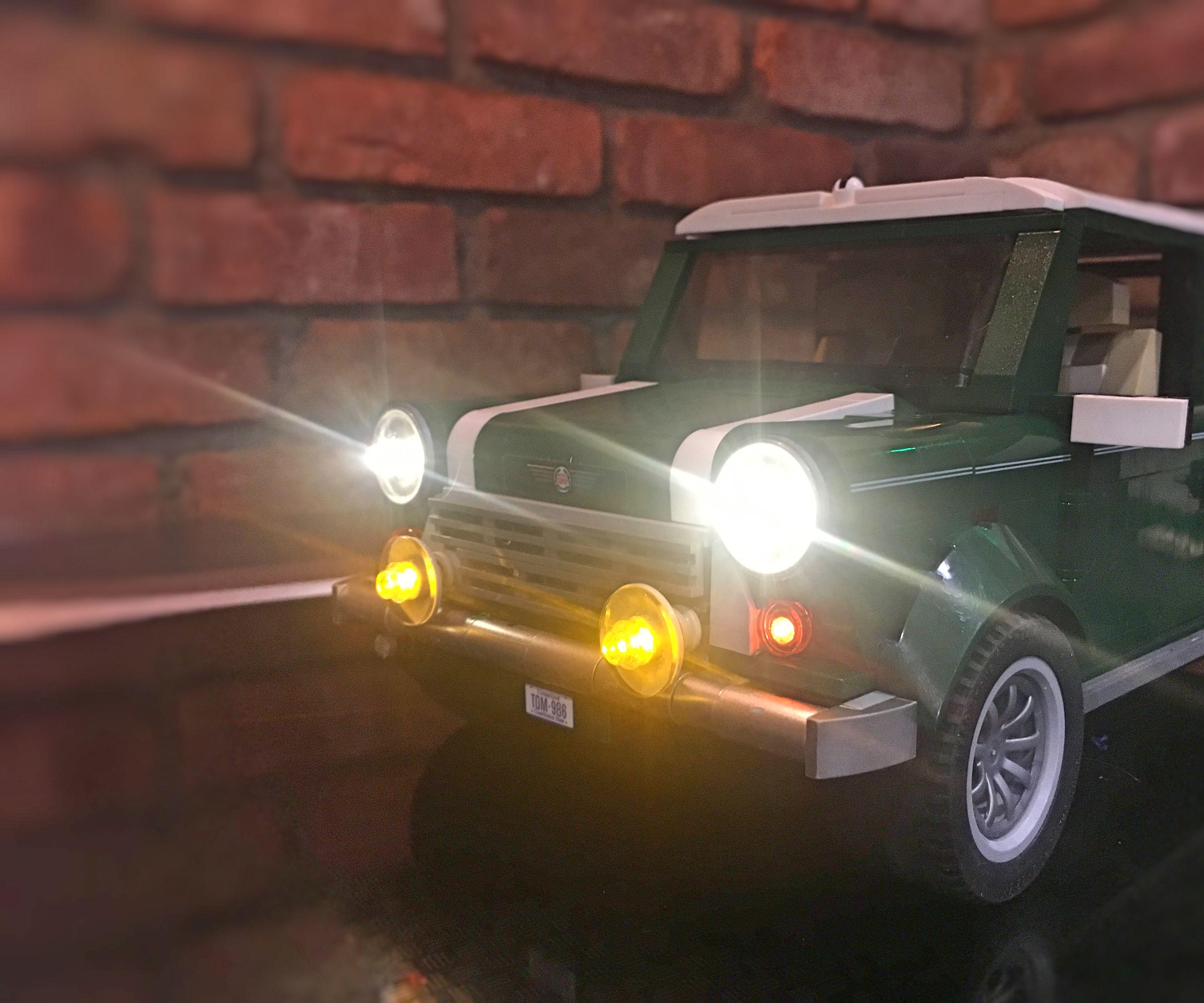 lego mini cooper app controlled lights [ 2100 x 1750 Pixel ]