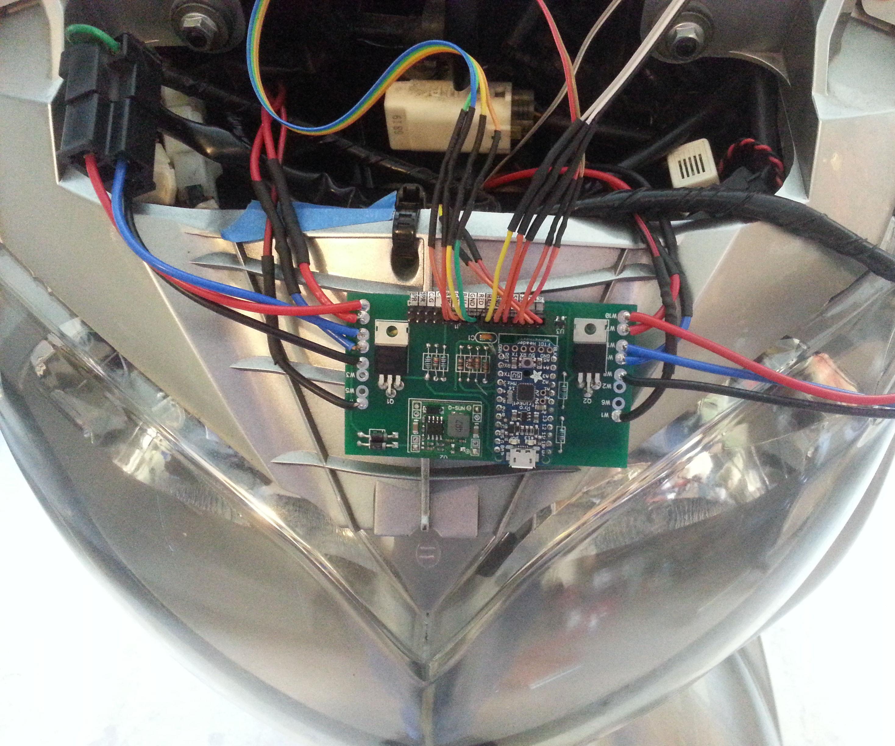 arduino headlight modulator for motorcycle safety [ 2100 x 1750 Pixel ]