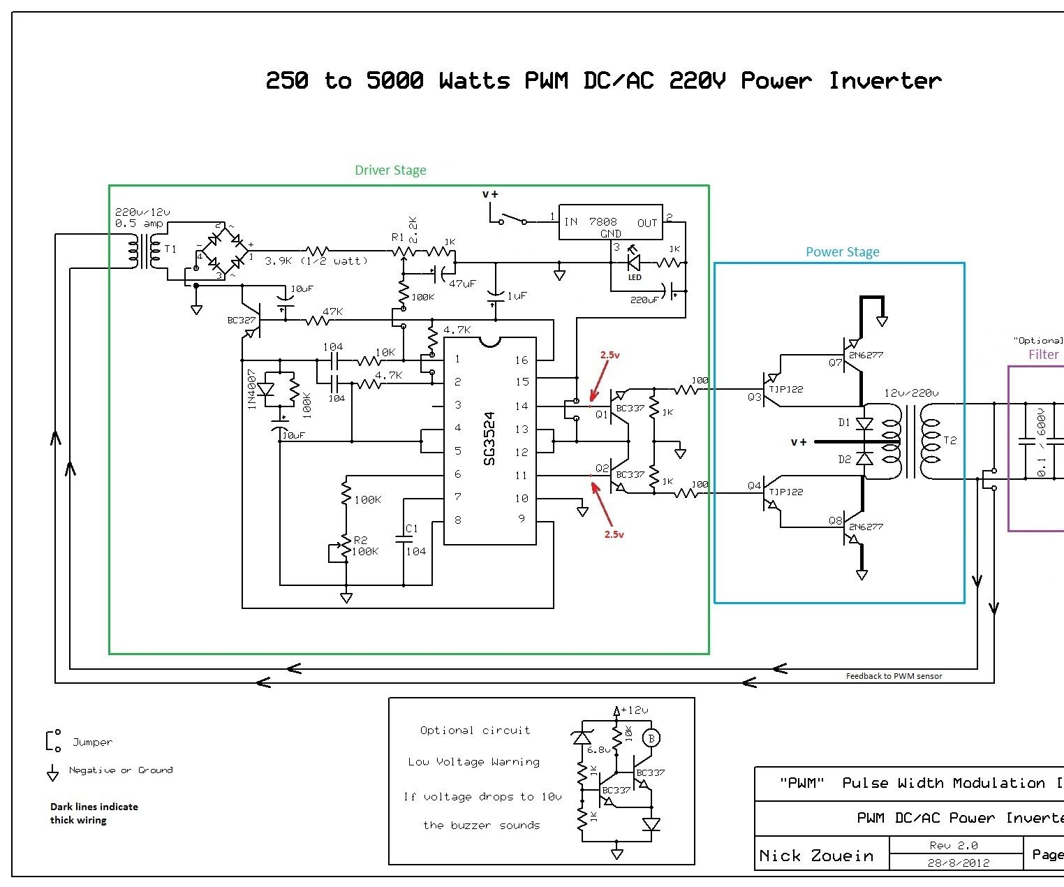 250 to 5000 watts pwm dc ac 220v power inverter how a pure sine wave inverter works circuit diagrams askcom auto [ 1524 x 1270 Pixel ]