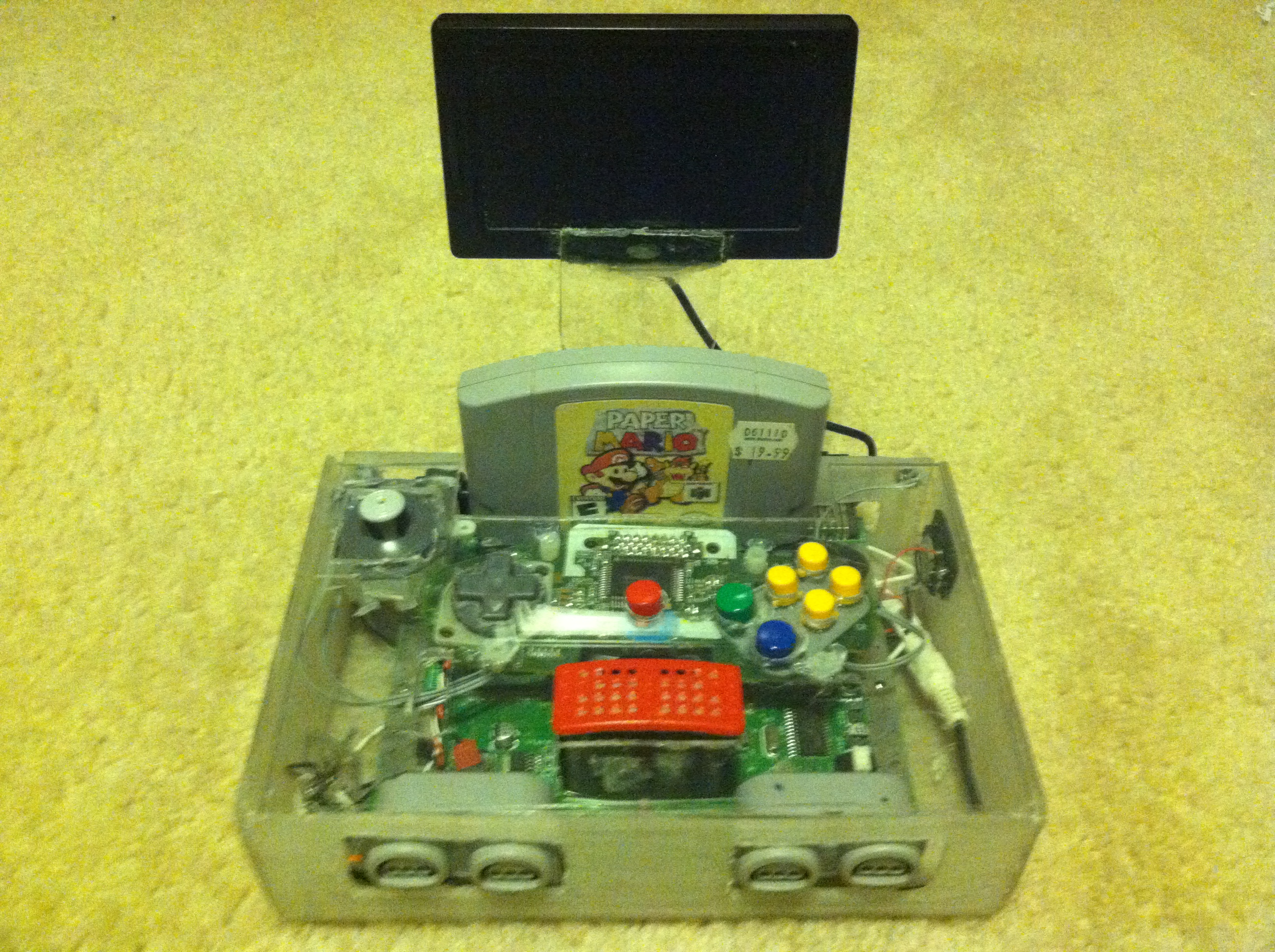 how to make a portable nintendo 64 steps 8 steps with pictures  [ 2100 x 1569 Pixel ]