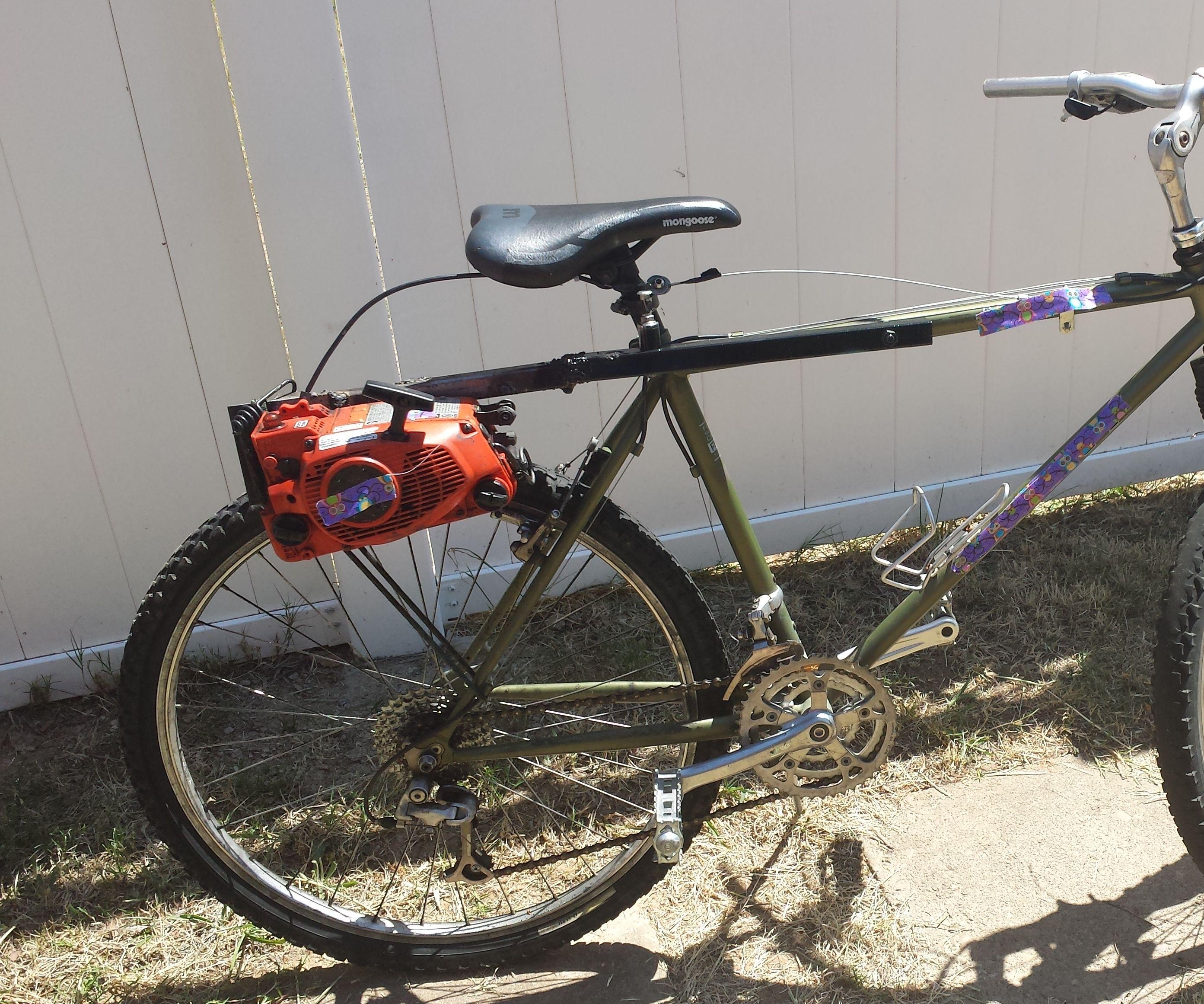 medium resolution of chainsaw bike