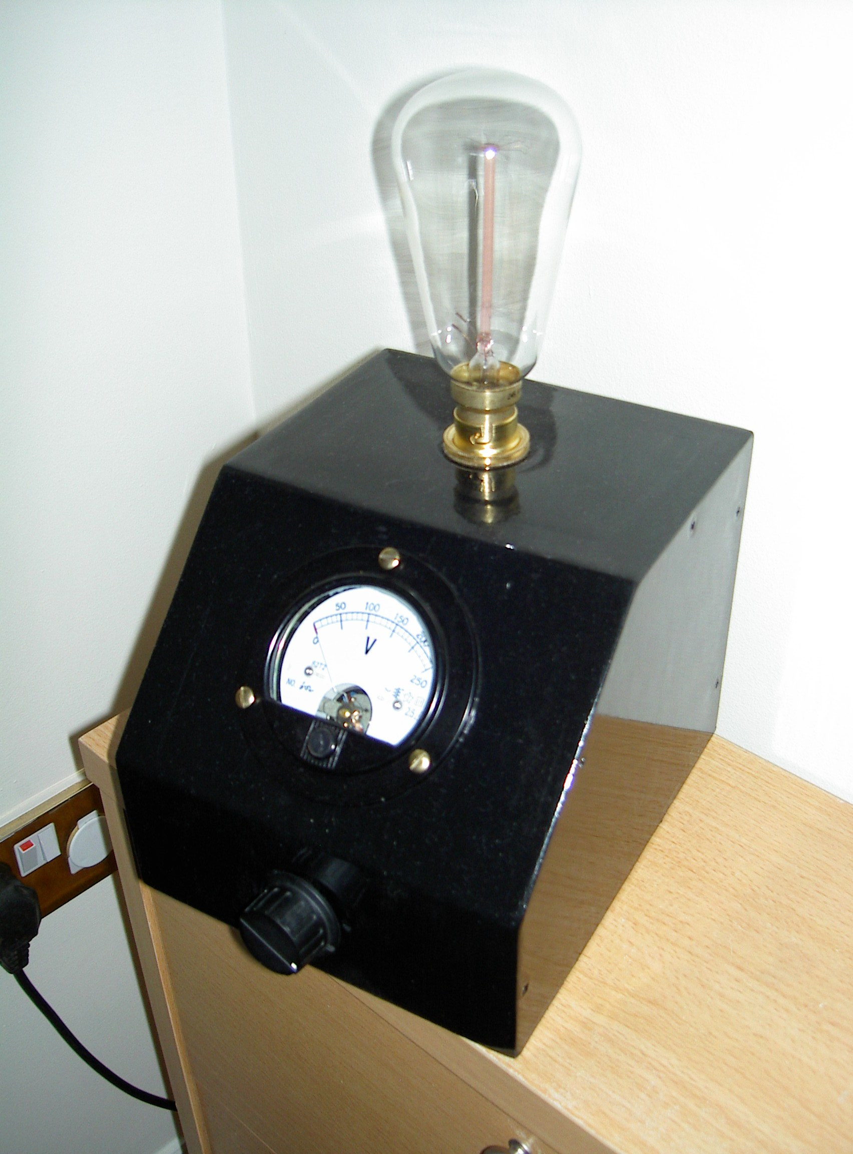 hight resolution of mad professor steampunk lamp with danger meter