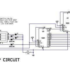 circuit diagram knight rider light [ 4161 x 1721 Pixel ]