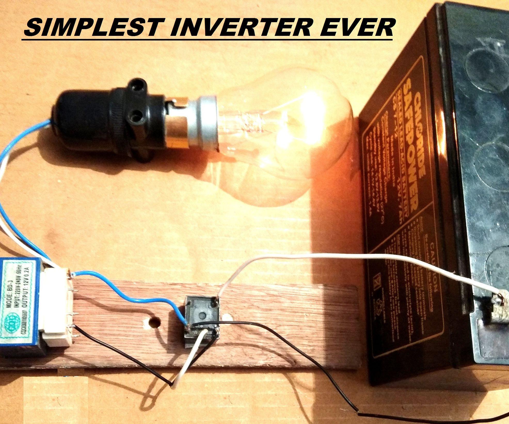 medium resolution of simplest 12v to 220v dc to ac power inverter diy