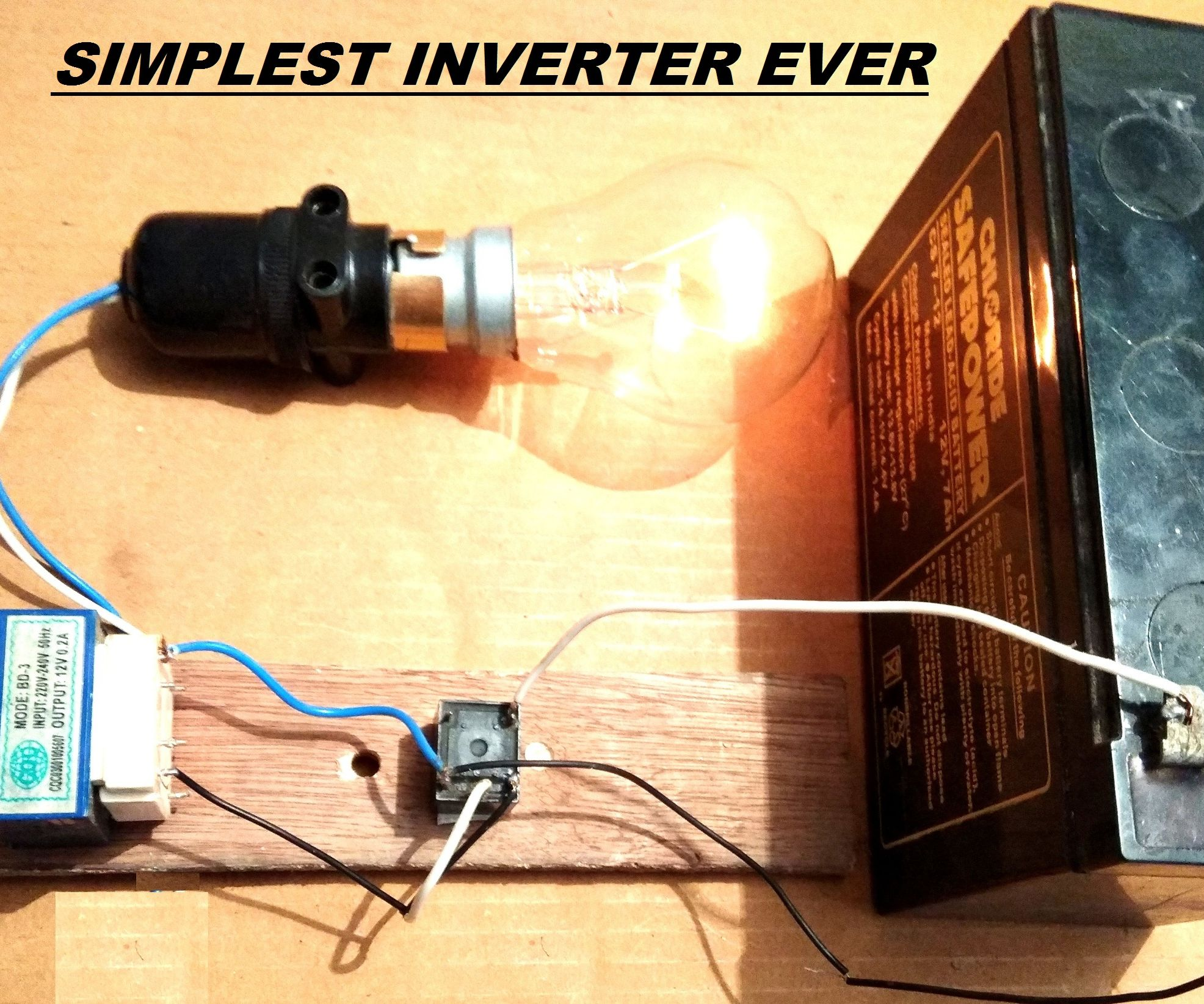small resolution of simplest 12v to 220v dc to ac power inverter diy