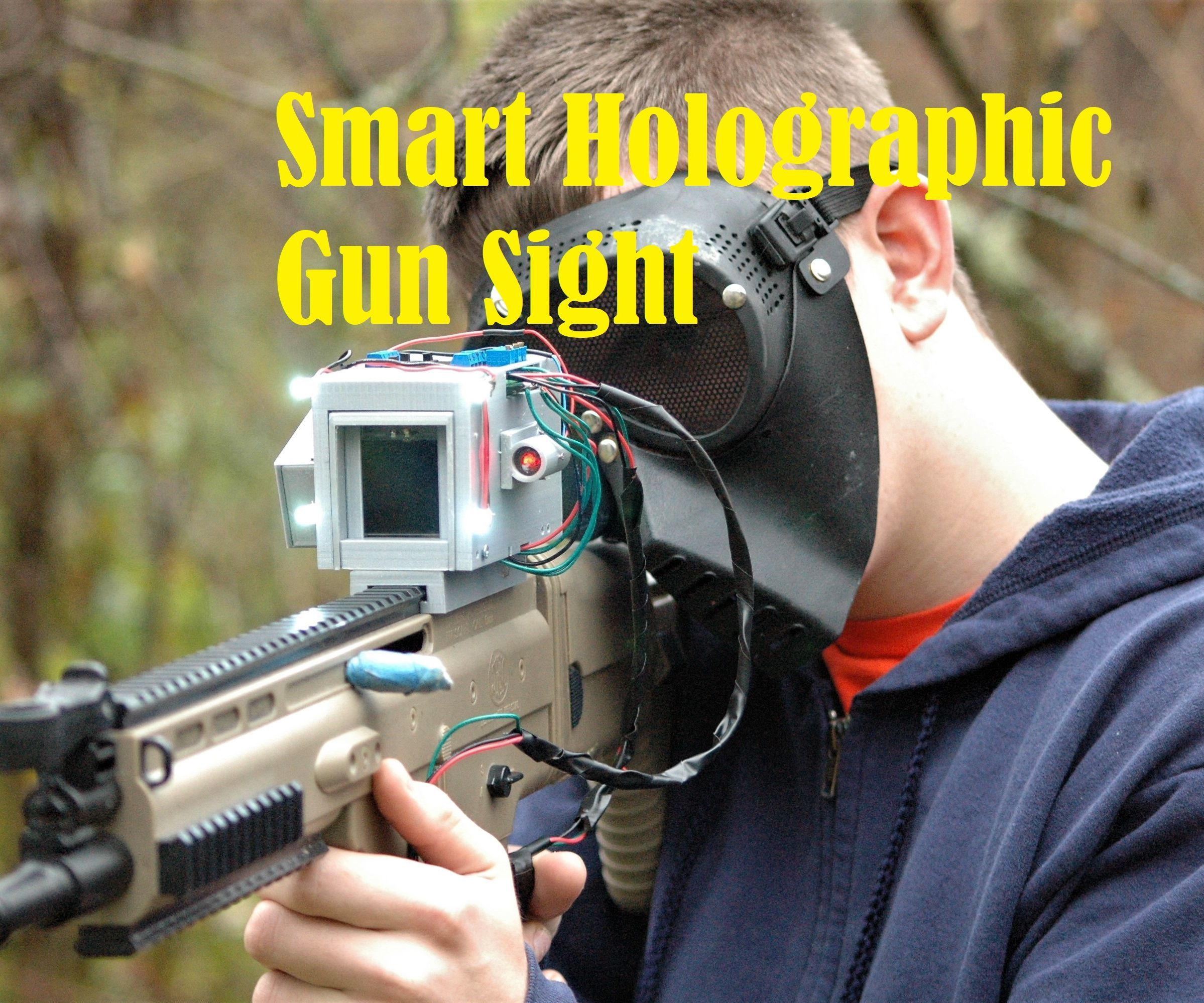 hight resolution of smart holographic gun sight with arduino
