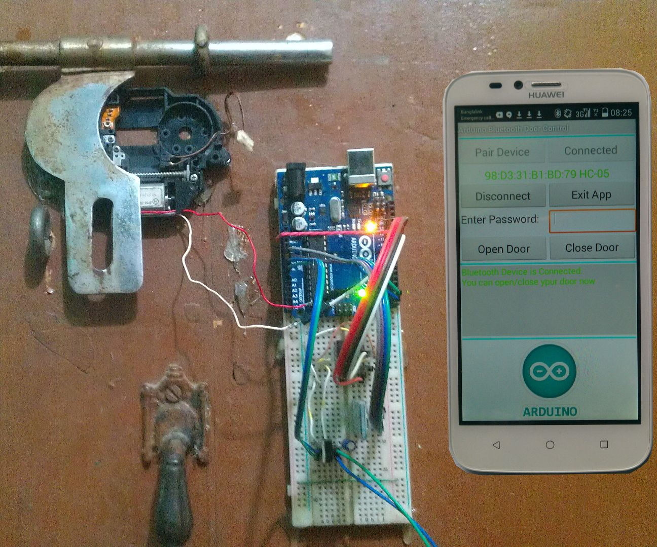 Arduino Based Home Appliance Control Using Android Phone Circuit