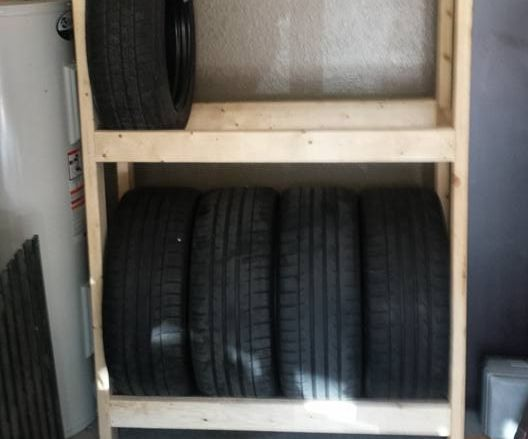 diy budget tire rack