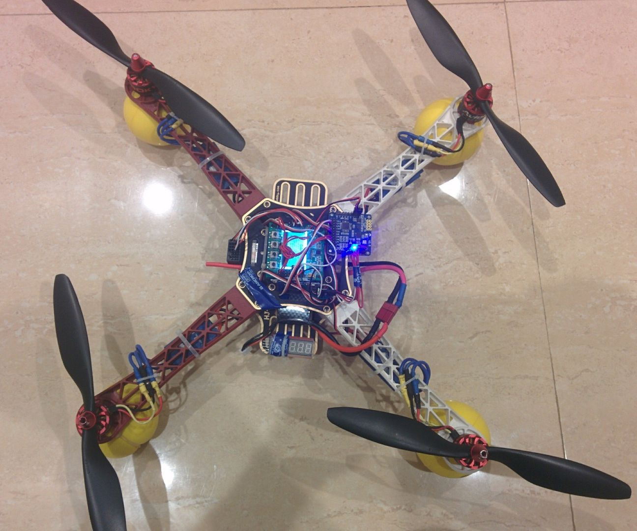 hight resolution of quadcopter using kk 2 15 module