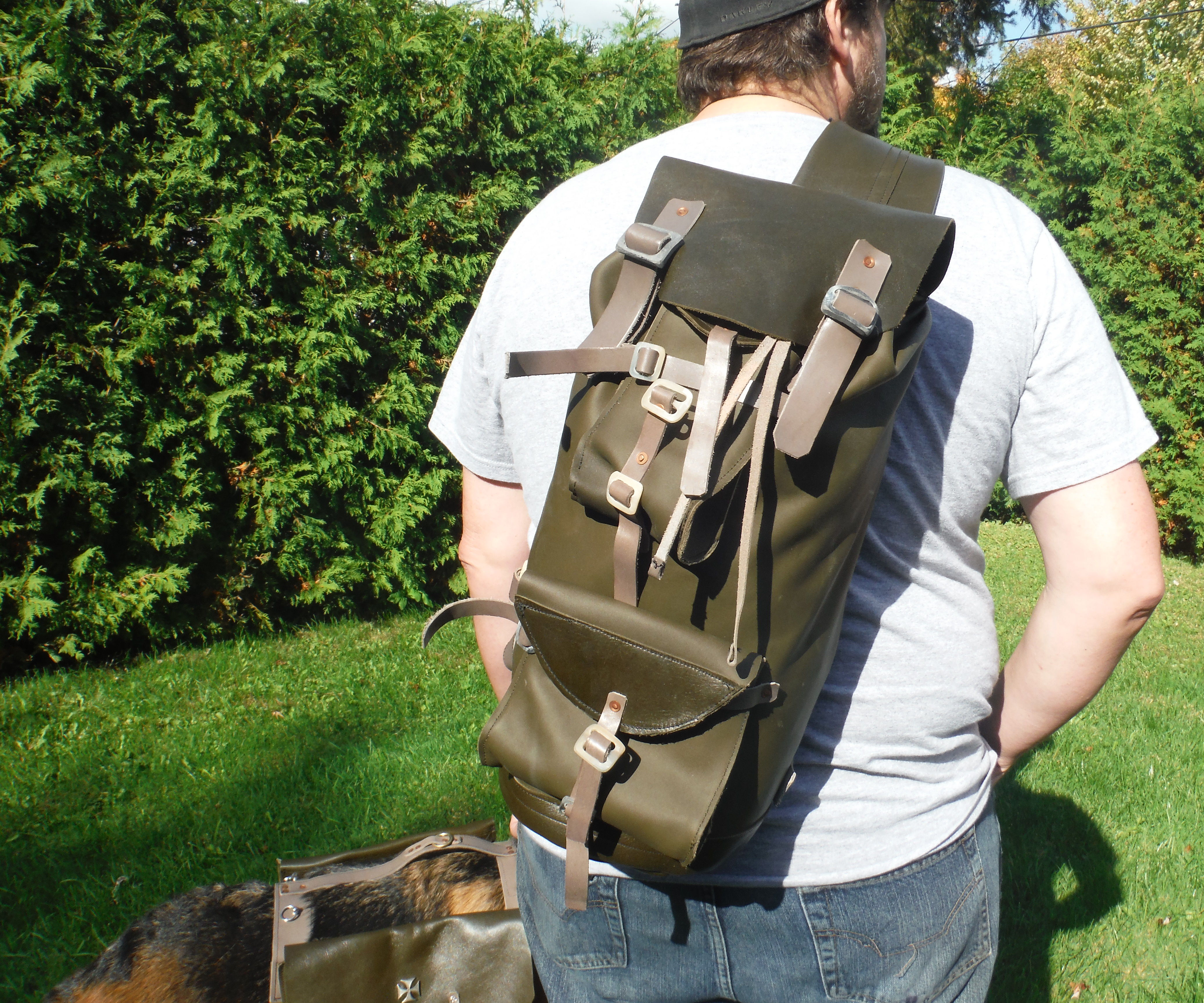custom leather sling style backpacks and dog harness 10 steps with pictures  [ 2100 x 1750 Pixel ]