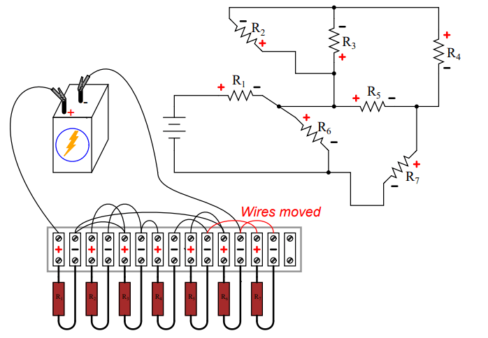 Building Series-Parallel Resistor Circuits on Terminal Strip