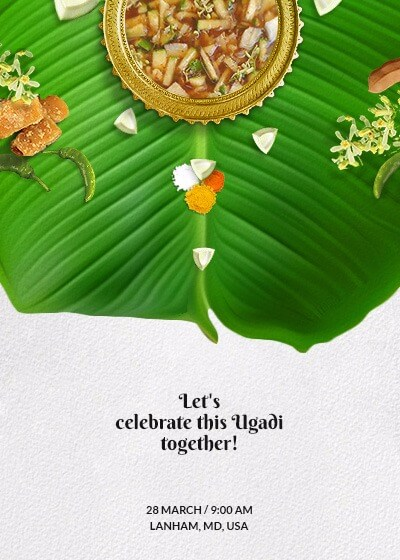 Ugadi  Flavors Of Life Invitation  Invites