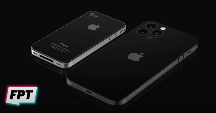 iPhone 14 and iPhone 4