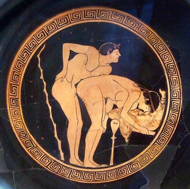 Image result for ancient greek vase with sex scene