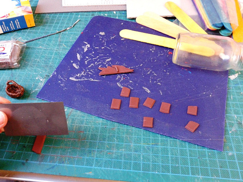 making miniature chocolate
