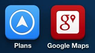 Apple Plans Google Maps Icones