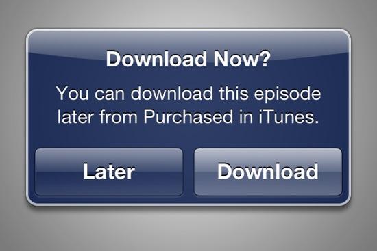 iTunes Telecharger plus tard