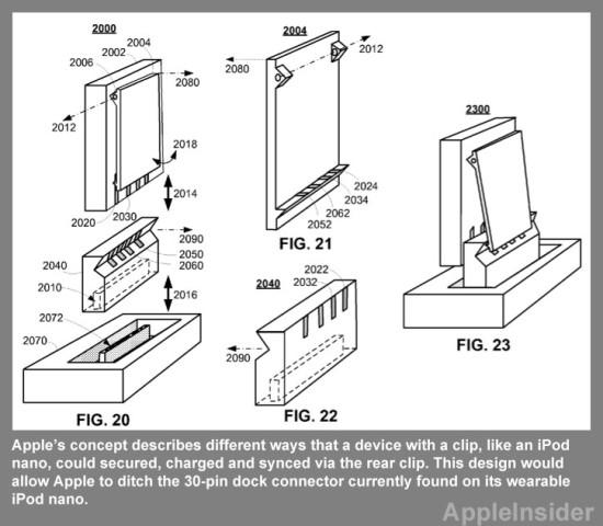 Apple's Idea Of iPod Nano Rear Clip That Doubles As A Dock
