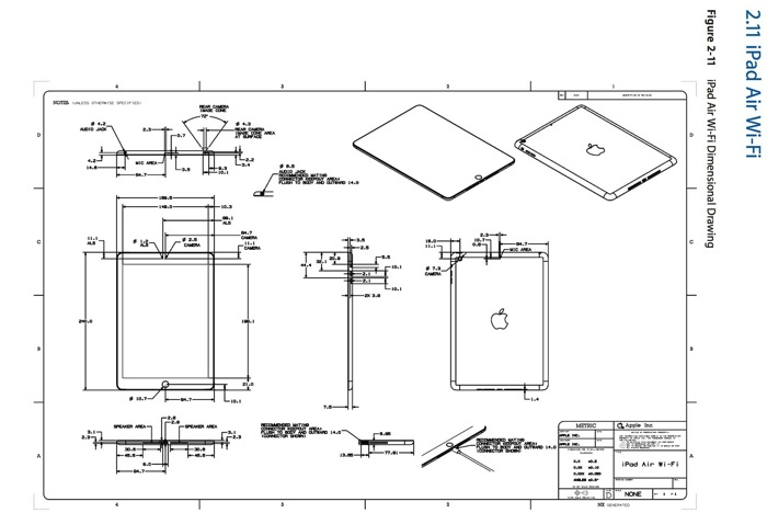 iphone schematic and wiring diagram jeep wrangler subwoofer apple posts case design schematics for the ipad air, retina mini [pics] | in canada blog
