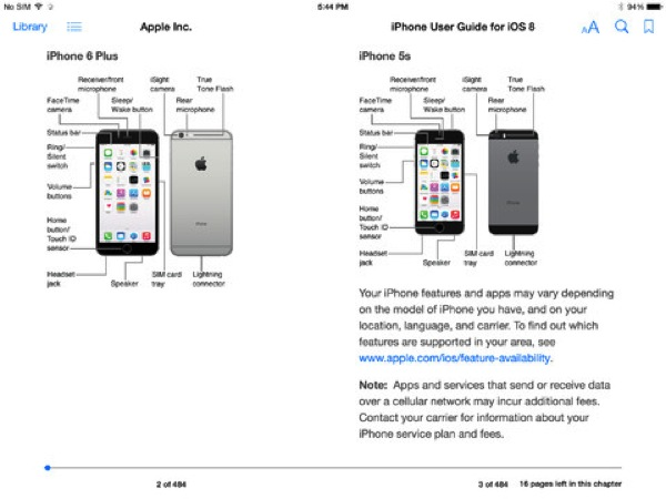 iOS 8 iPhone User Guide Download Now Available in