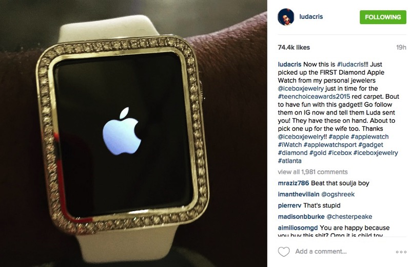 Ludacris Shows Off His Diamond Studded Apple Watch PICS
