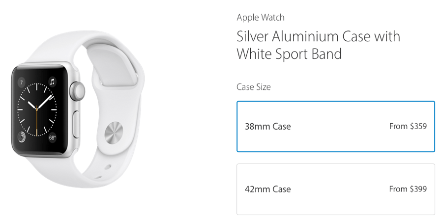 Apple Watch Series 1 Price Drop 90 120 Aluminum Only