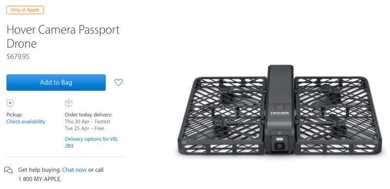 Hover Camera Passport Drone Launches in Canada for $679.95