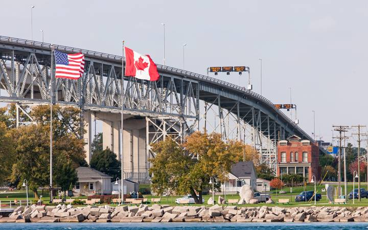 Image result for us & canada border