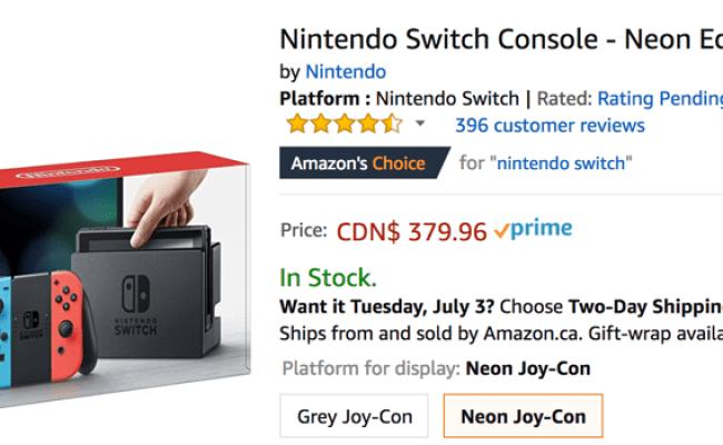 Nintendo Canada Price Cuts The Nintendo Switch To 379 99