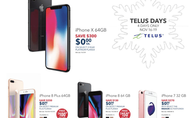 Best Buy Early Black Friday Deals Telus 0 Iphone X 0 Cute766