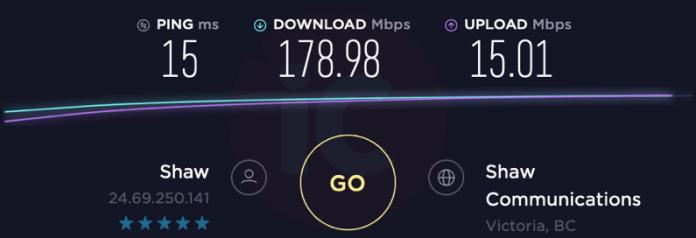 Shaw internet 150