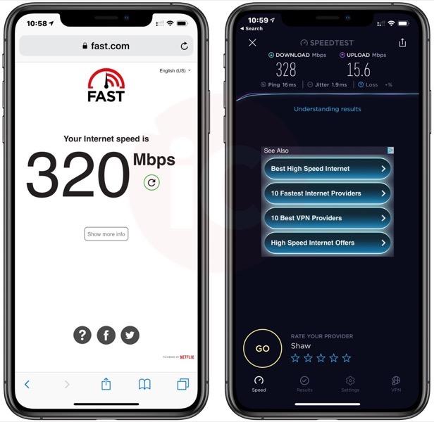 Shaw internet speedtest fast