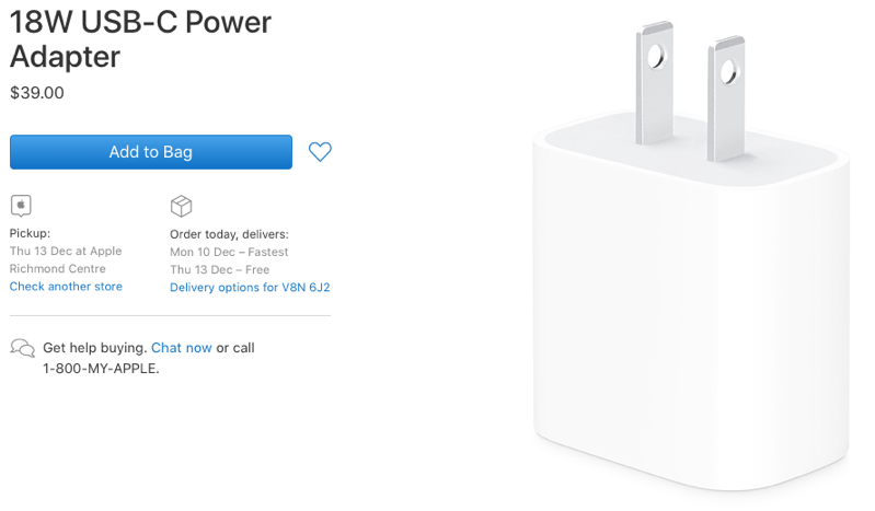 You Can Now Buy Apple's Latest 18W USB-C Power Adapter for