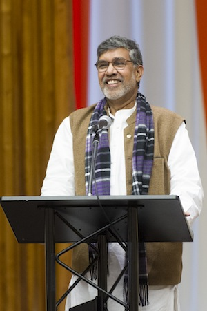 Nobel Peace Prize Winner Kailash Satyarthi speaks at the DPI/NGO Special Briefing: Ending Child Slavery by 2030. Credit: UN Photo/Mark Garten