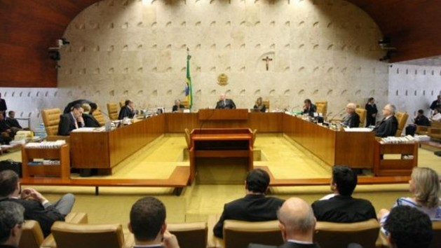 Brazil's Supreme Court during the Sep. 17 reading of the landmark ruling which declared that laws allowing corporate donations to election campaigns are unconstitutional. Credit: STF