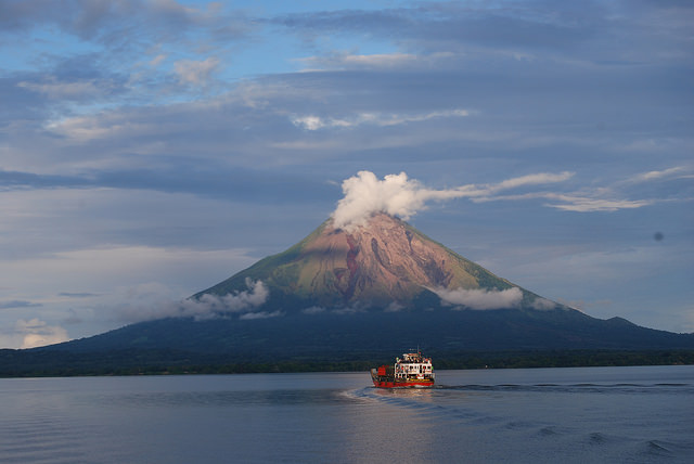 Ometepe Island within Lake Cocibolca in western Nicaragua. Scientists, environmentalists, political opponents, academics, social organisations and people whose lives will be affected have come together against construction of the interoceanic canal and in defence of the lake. Credit: Karin Paladino/IPS
