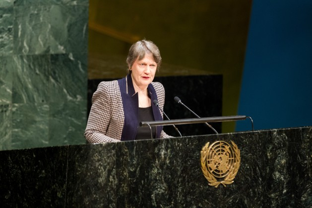 Helen Clark former Prime Minister of New Zealand and Administrator of the UN Development Program is one of four female candidates to be the next UN Secretary-General. Credit: UN Photo/Loey Felipe.