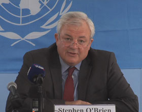 Stephen O'Brian, UN Under-Secretary-General for Humanitarian Affair. Credit: UN Multimedia