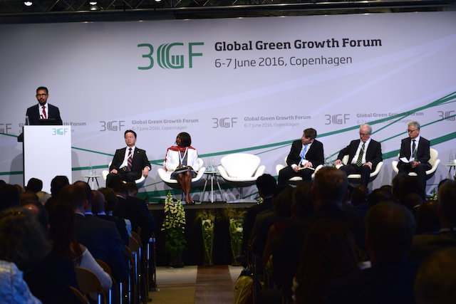 The Global Green Growth Forum, a two-day conference in Copenhagen June 6-7, 2016, on attaining green growth in business, in alignment with the SDGs. Credit: Stella Paul/IPS