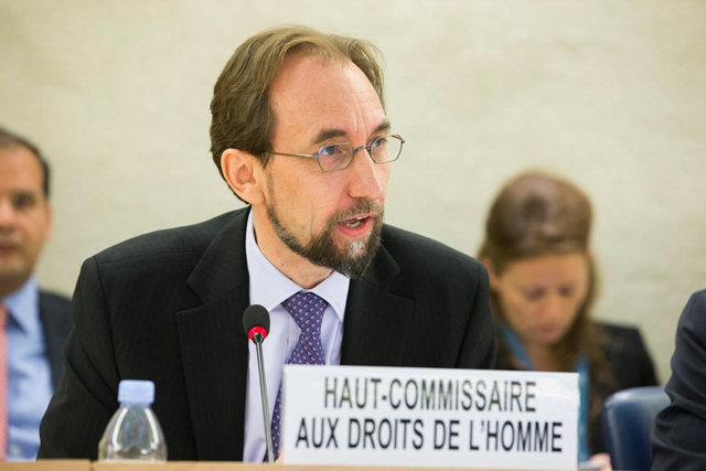 High Commissioner for Human Rights Zeid Ra'ad Al Hussein. Credit: UN Photo/Pierre Albouy