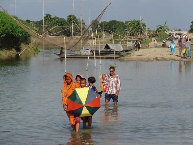 Floods in Morigaon, India in 2014. Climate change is already leading to more frequent natural disasters. Credit: Credit: Priyanka Borpujari/IPS